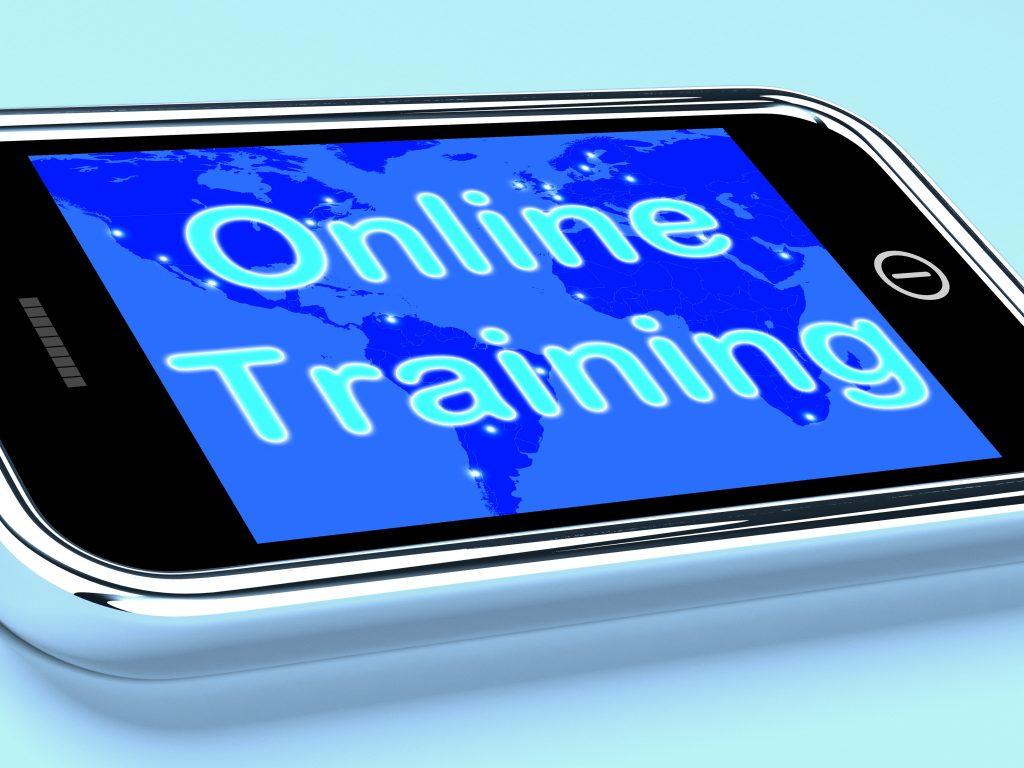 Online Training Mobile Screen